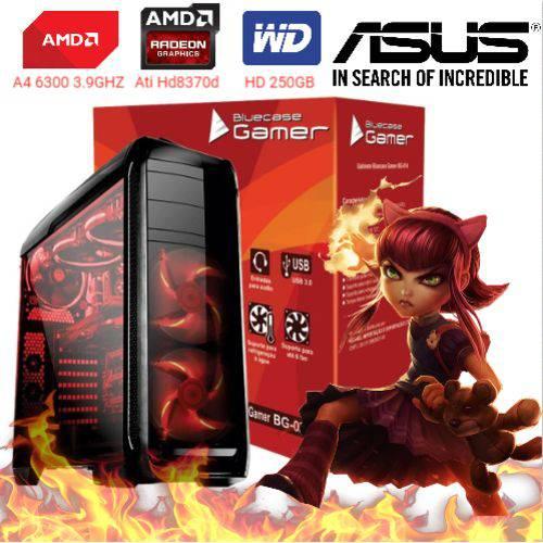 Computador Cpu Pc Gamer A4 6300 Dual Core 3.9 Ghz HDMI 4Gb Ati Radeon HD 8370D Bg-024