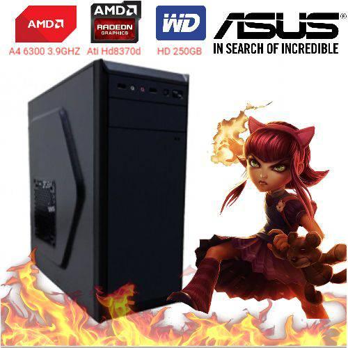 Computador Cpu Pc Gamer A4 6300 Dual Core 3.9 Ghz HDMI 4Gb Ati Radeon HD 8370D Bg-2312