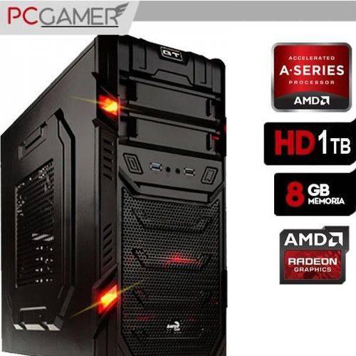 Computador Gamer GT AMD A6 7400K, 8GB Ram, Radeon R7, 1TB
