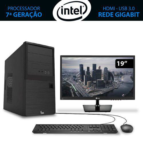 Computador Home&office Intel Core I5 7ª Geração 7400 4gb 1tb com Monitor 19.5 Lg 3green