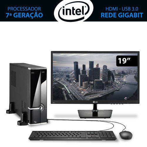 Computador Home&office Intel Core I7 7ª Geração 7700 8gb 1tb com Monitor 19.5 Lg 3green