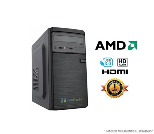 Computador Home Office AMD A4 6300 - 4GB, HD 320GB | InfoParts