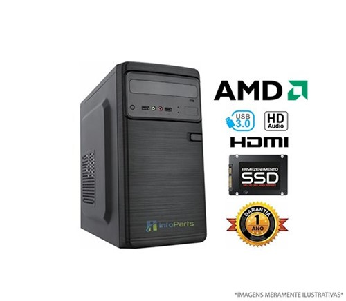 Computador Home Office AMD A4 6300 - 4GB, SSD 120GB | InfoParts