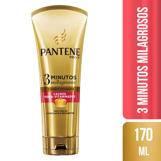 Condicionador Pantene Cachos Hidra-Vitaminados 3 Minutos Milagrosos 170ml