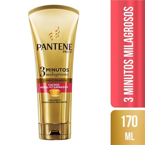 Condicionador Pantene 3 Minutos Milagrosos Cachos Hidra-Vitaminados com 170ml