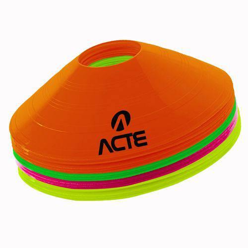 Cone-chapeu Chinês com 12 Peças, Cores Sortidas (branco, Preto, Amarelo e Laranja) 20cm - Acte Sport