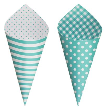 Cone Decorativo para Festa Azul Turqueza 24un Cromus Festa