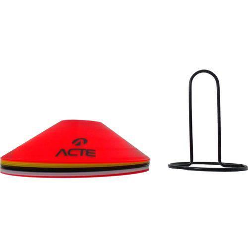 Cones Chapéu Chinês Treinamento de Velocidade e Explosão com 12 Unidades - Acte Sports T74