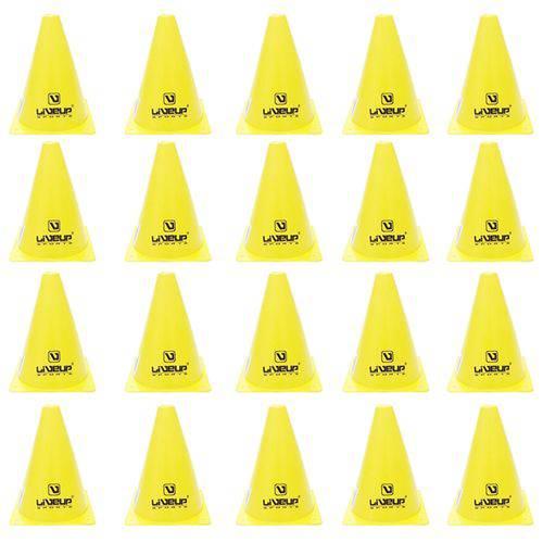 Cones para Treinamento de Agilidade 18cm Amarelo 20 Unidades - Liveup Ls3876/18