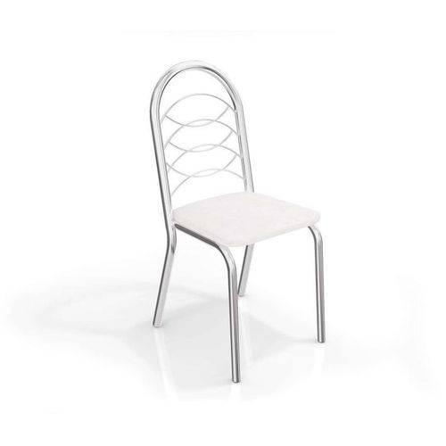 Conjunto 4 Cadeiras Holanda Crome Cromado/branco Kappesberg
