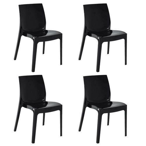 Conjunto 4 Cadeiras Tramontina Alice Preto 92037009