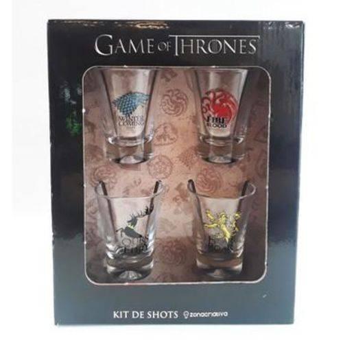 Conjunto 4 Copos Shot / Dose 60ml GOT - Casas Game Of Thrones