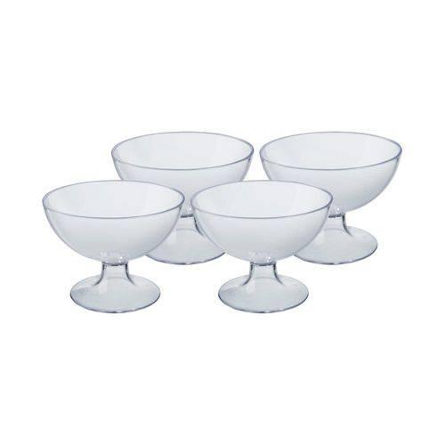Conjunto 4 Taças de Sobremesa 150ml Cozy Cristal - Coza