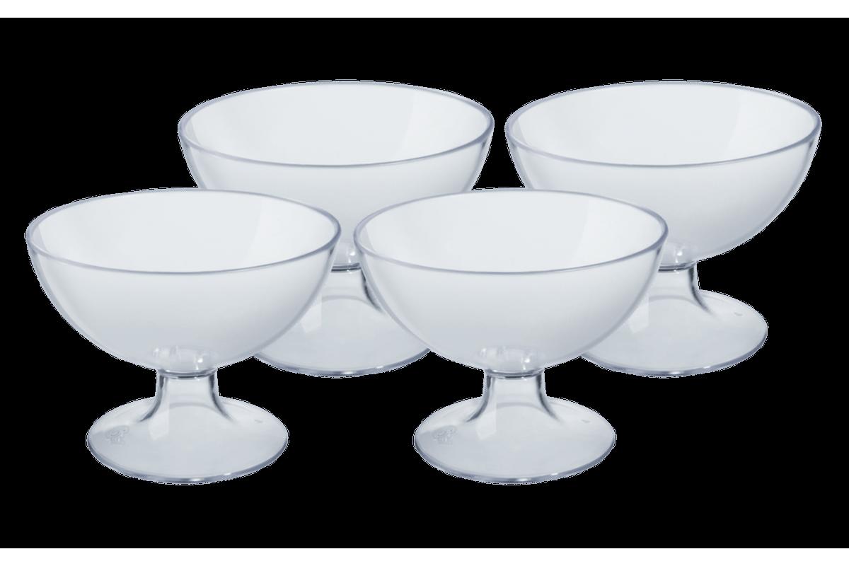 Conjunto 4 Taças de Sobremesa Cozy 150ml 10,5 X 10,5 X 8 Cm Cristal Coza