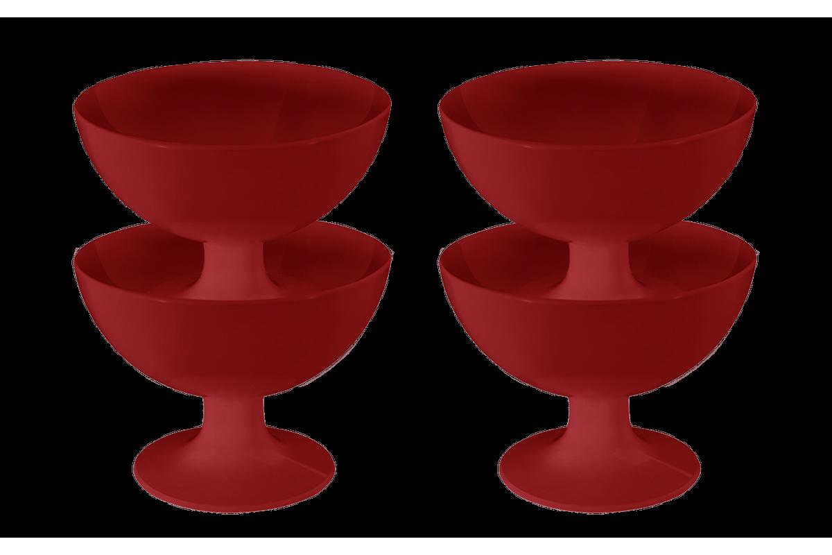 Conjunto 4 Taças de Sobremesa Cozy Vermelho Bold Coza