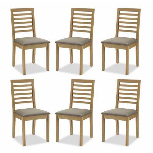 Conjunto 6 Cadeiras de Jantar Violet Amêndoa - ID Madeiras