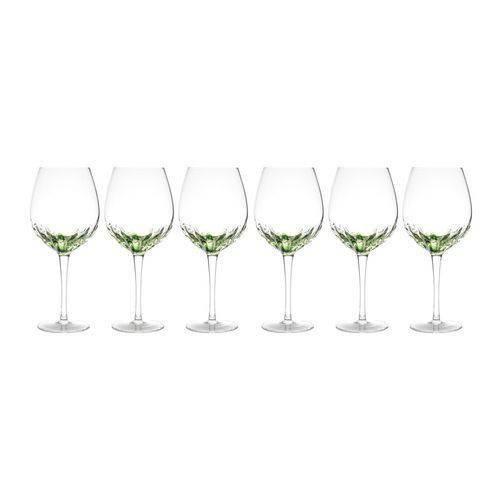Conjunto 6 Taças de Vidro Craqueladas Artisan Verde para Água 685ml Bon Gourmet