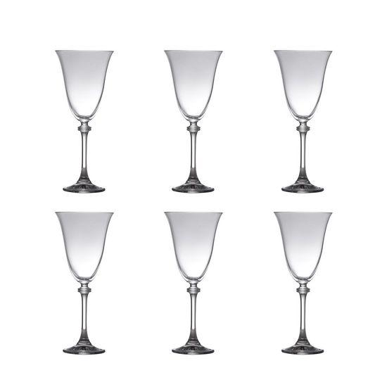 Conjunto 6 Taças para Agua de Vidro Sodo-Cálcico com Titanio Alexandra 350ml