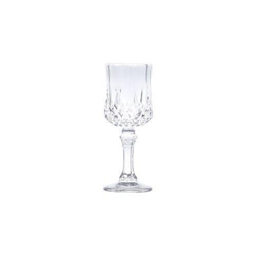 Conjunto 6 Taças para Licor de Vidro Diamante Transparente 60ml
