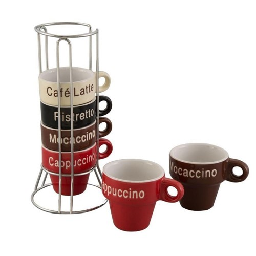 Conjunto 6 Xícaras de Café de Porcelana 30364-Rojemac