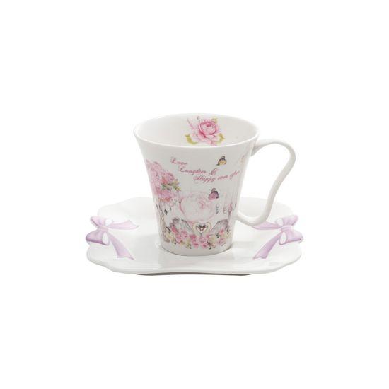 Conjunto 6 Xícaras de Chá de Porcelana 200ml Wedding