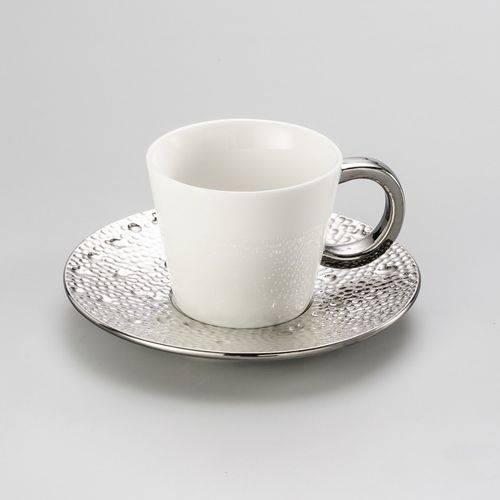 Conjunto 6 Xícaras para Chá de Porcelana Super White Drop 180ml Lyor Branco
