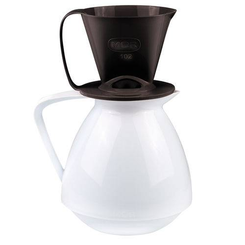 Conjunto Amábile Bule e Suporte para Coador de Café