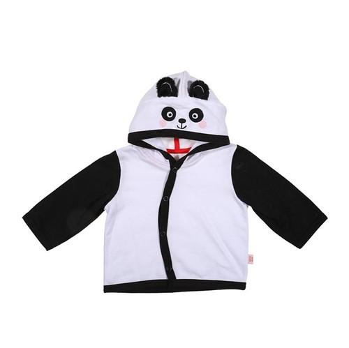 Conjunto Amigo Panda Branco e Preto/0 a 3 M