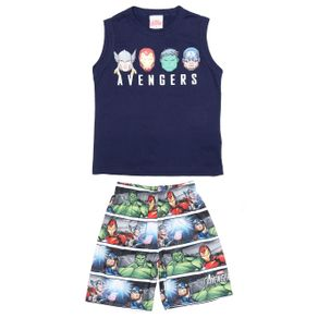 Conjunto Avengers Infantil para Menino - Azul/cinza 8