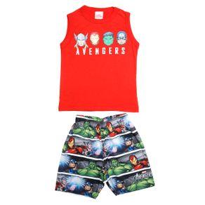 Conjunto Avengers Infantil para Menino - Vermelho/cinza 4