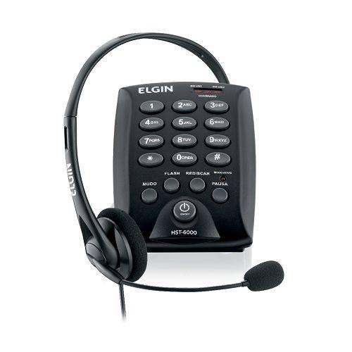 Conjunto Base Discadora com Fone de Cabeça para Telefonista