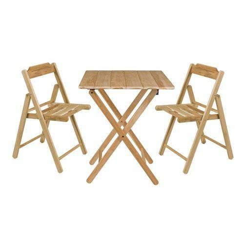 Conjunto Beet Teca -1 Mesa + 2 Cadeiras - TRAMONTINA