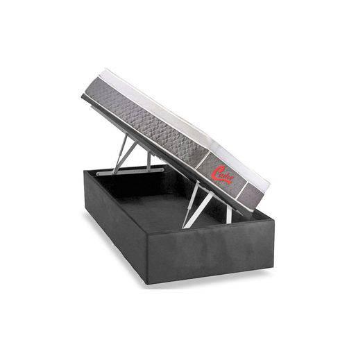 Conjunto Box Baú-Colchão Castor Pocket Light Stress Oxygen New Plush+Cama Box Baú Black- Solteiro 88
