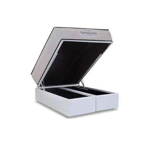 Conjunto Box Baú - Colchão Ortobom Hight Foam + Cama Box Baú Ortobom Couríno Bianco - King 1,93x2,03