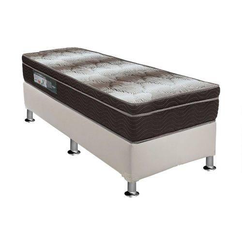 Conjunto Box - Colchão Ortopédico Light Ortobom + Cama Box Universal Couríno White - Solteiro 0,88x1,88