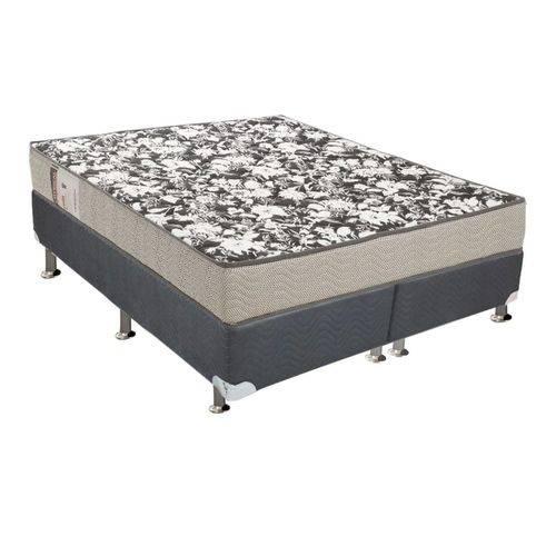 Conjunto Box Queen - Colchão Ortobom Physical Ultra Resistente + Cama Box Nobuck Cinza(158x198x52)