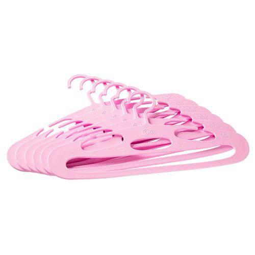 Conjunto Cabides Piccolino 31 X 4 X 16,1 Cm 6 Peças Rosa Baby - Coza