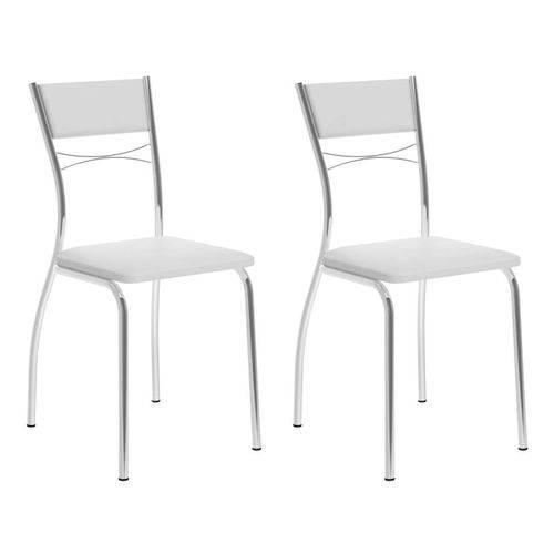 Conjunto 2 Cadeiras 1701 Branca