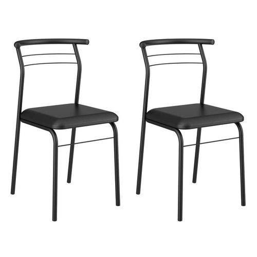 Conjunto 2 Cadeiras 1708 Preta