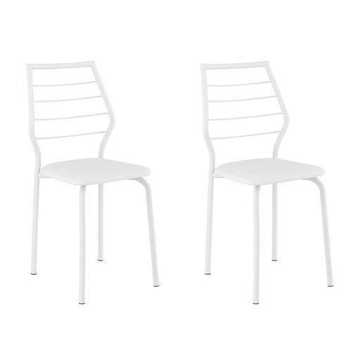 Conjunto 2 Cadeiras 1716 Casual Napa Branco Branco