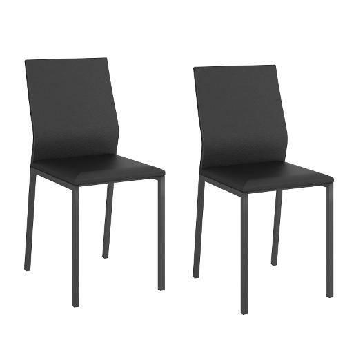 Conjunto 2 Cadeiras 1804 Carraro Preto