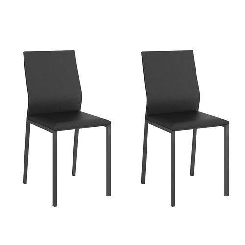 Conjunto 2 Cadeiras 1804 Comtemporânea Courissimo Preto Preto