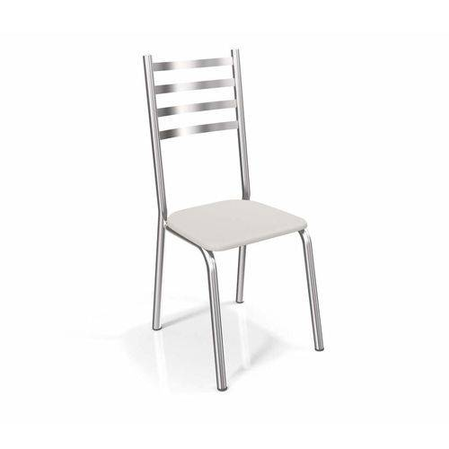 Conjunto 2 Cadeiras Alemanha Crome Cromado/Branco Kappesberg