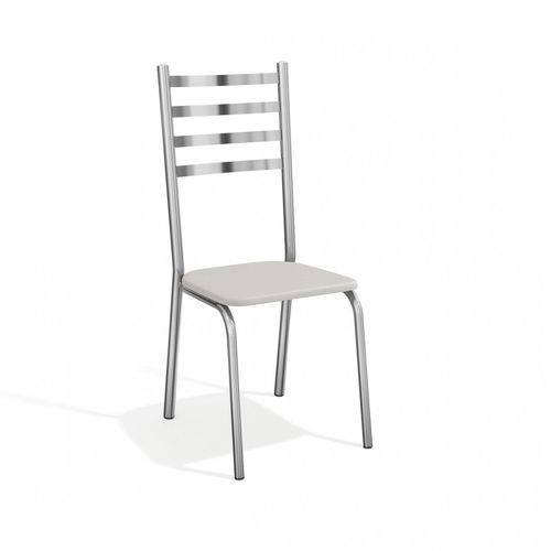 Conjunto 2 Cadeiras Alemanha Crome Kappesberg Cromado/Branco