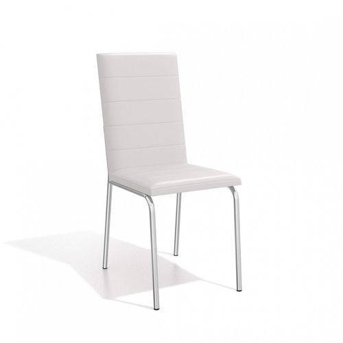Conjunto 2 Cadeiras Amsterdã Crome Kappesberg Cromado/Branco