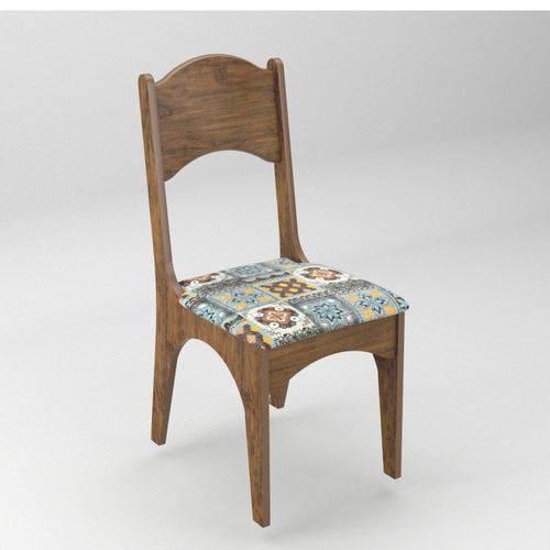 Conjunto 2 Cadeiras Assento Estofado 100% MDF CA18/2 Dalla Costa - Dalla Costa