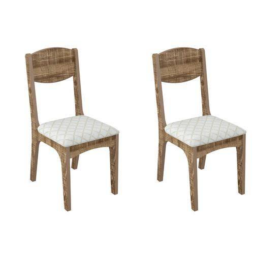 Conjunto 2 Cadeiras Assento Estofado MDF CA12/2 Dalla Costa - Dalla Costa
