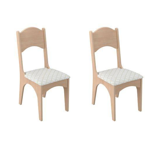 Conjunto 2 Cadeiras Assento Estofado MDF CA18/2 Dalla Costa - Dalla Costa