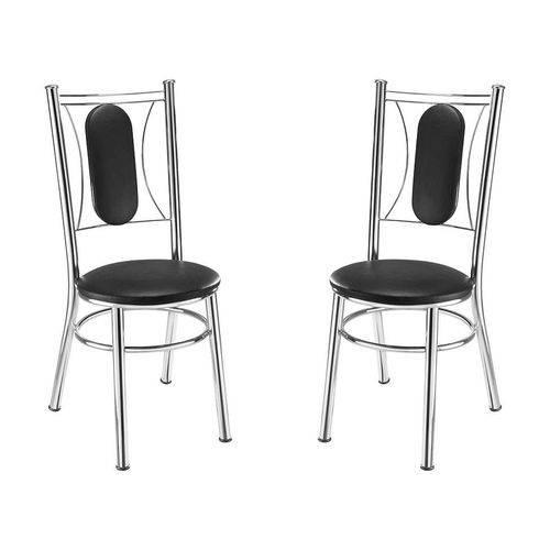 Conjunto 2 Cadeiras Ca980 Preta I