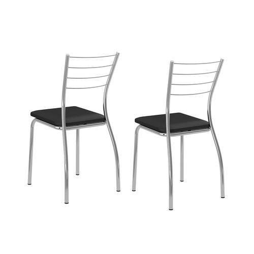 Conjunto 2 Cadeiras Coronel Carraro Preto